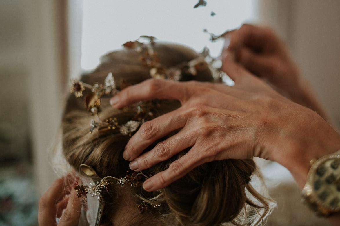 Tocados para Novia y pendientes Paulet