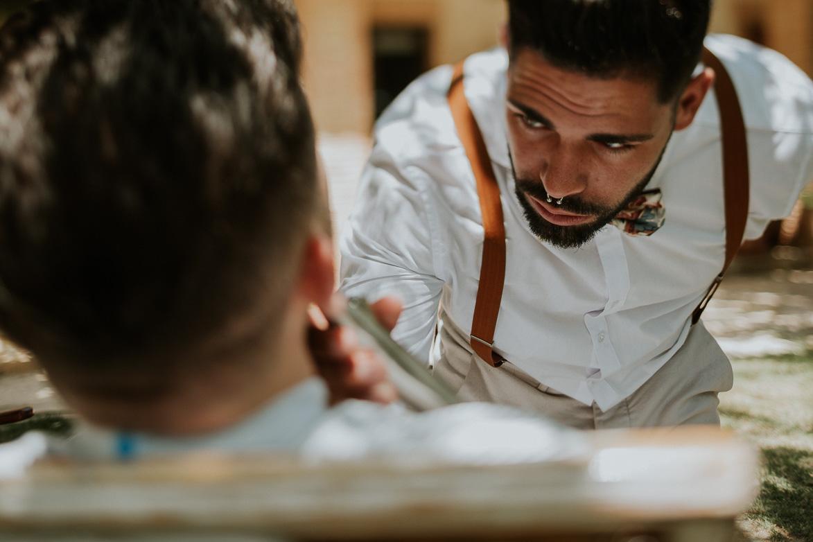 Barberia Los Honorables en Bodas Alicante Wedding Barber