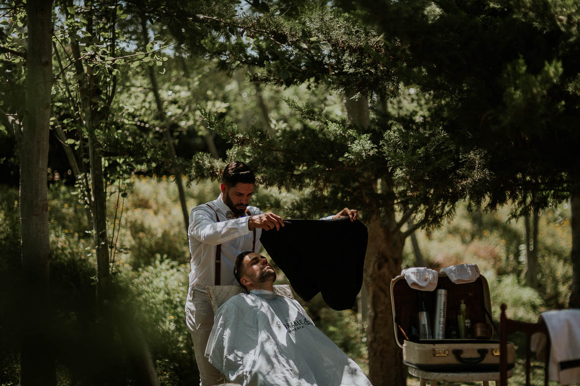 Barberia Los Honorables en Bodas Alicante Wedding Barber