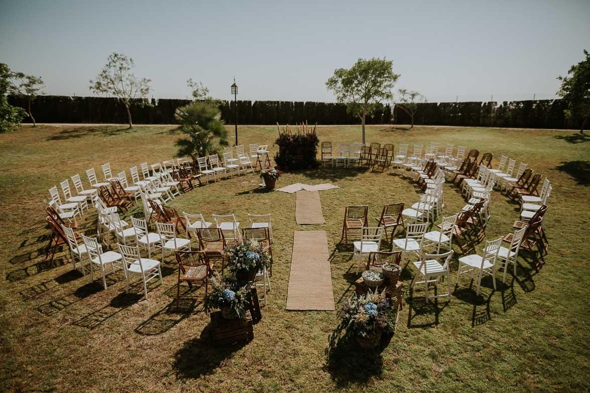Decoración Ceremonia Civil AriannaPe en Yeguada La Gloria