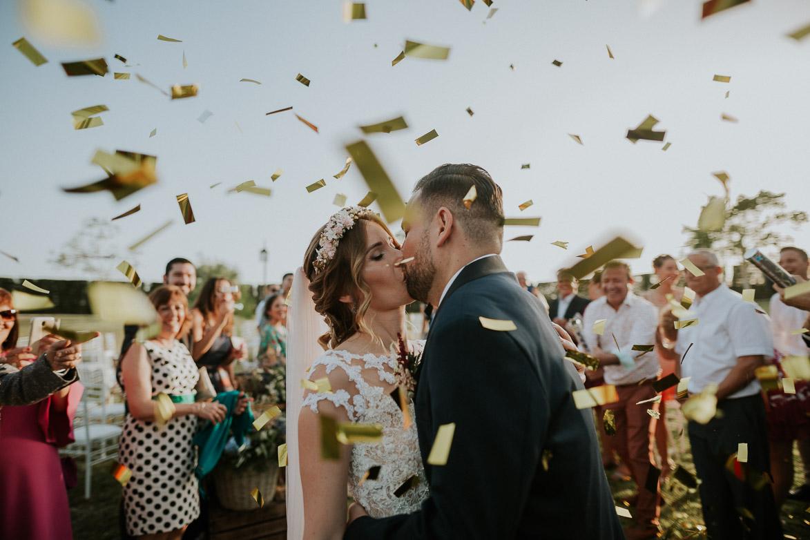 Confeti para Bodas Civiles Yeguada La Gloria Wedding Spain
