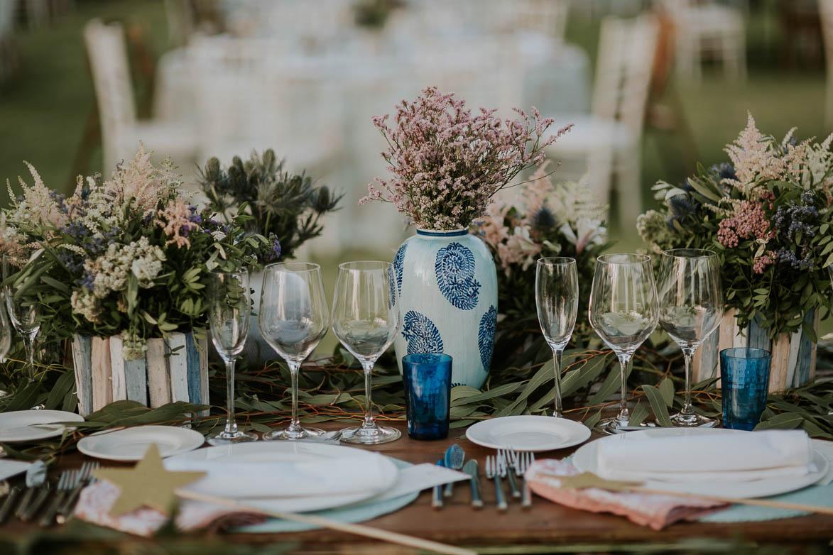 Centros de Mesas para Bodas Civiles Yeguada La Gloria Wedding Spain