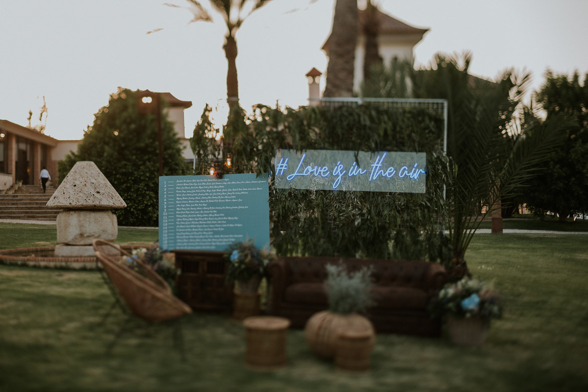 SeatingPlan para Bodas Civiles Yeguada La Gloria Wedding Spain