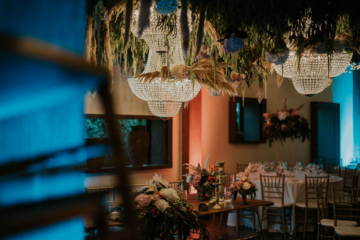 Decoración con lamparas en Bodas