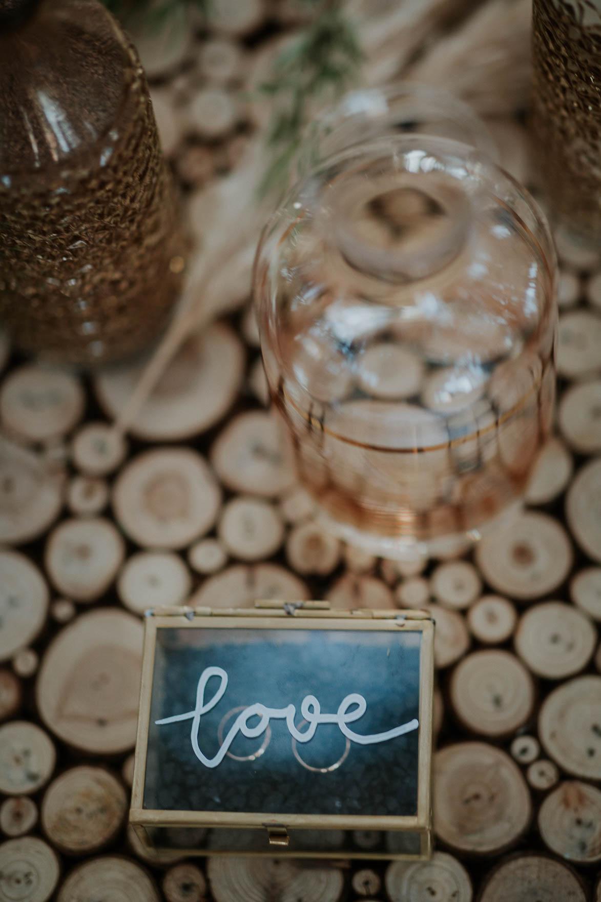 Caja para anillos para bodas