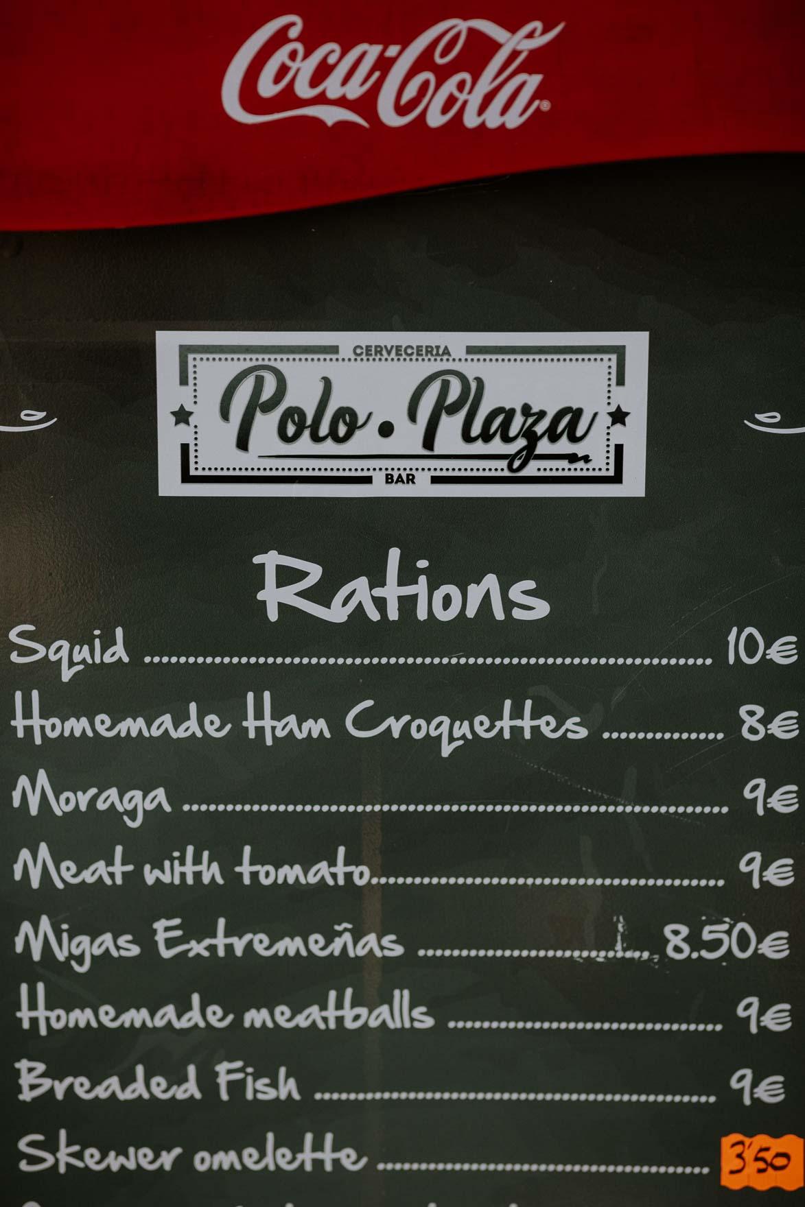 Precios Polo Plaza