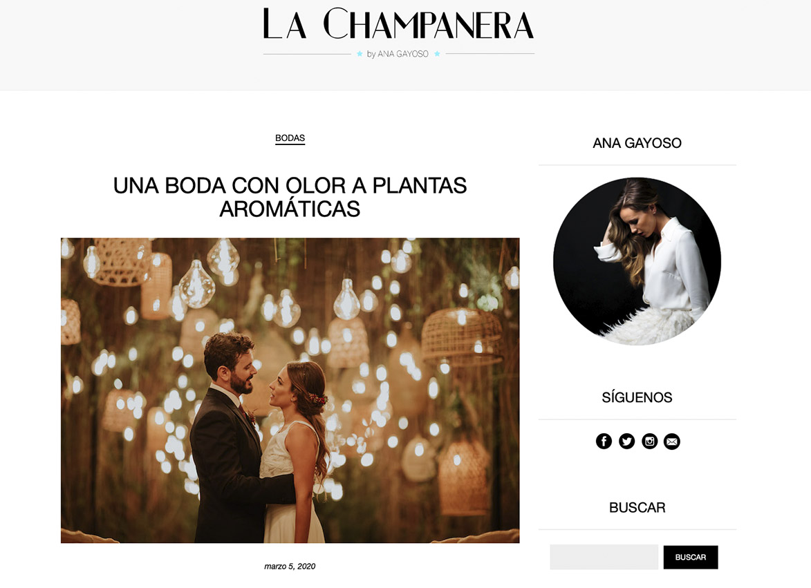 Publicación en La Champanera Boda Silvia & Xavier