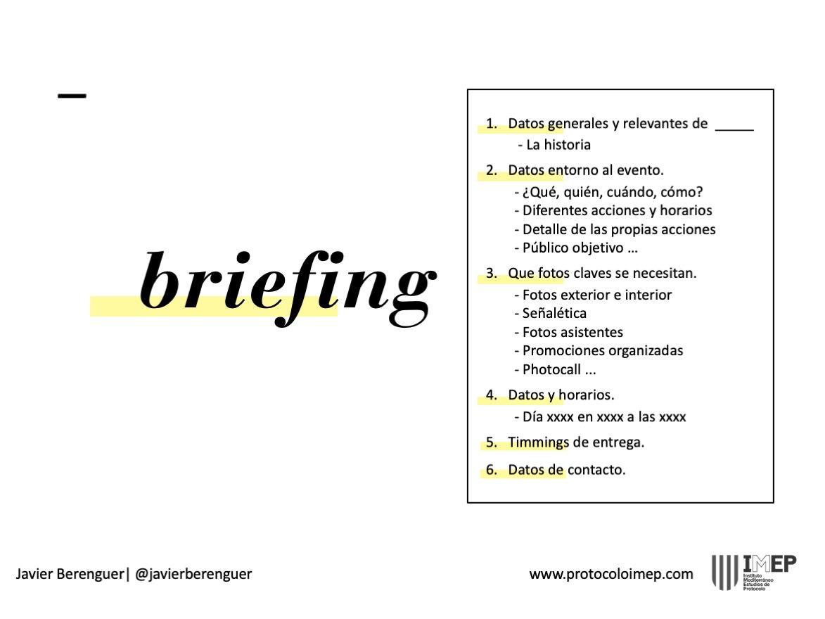Como hacer un Briefing de Fotografía para eventos