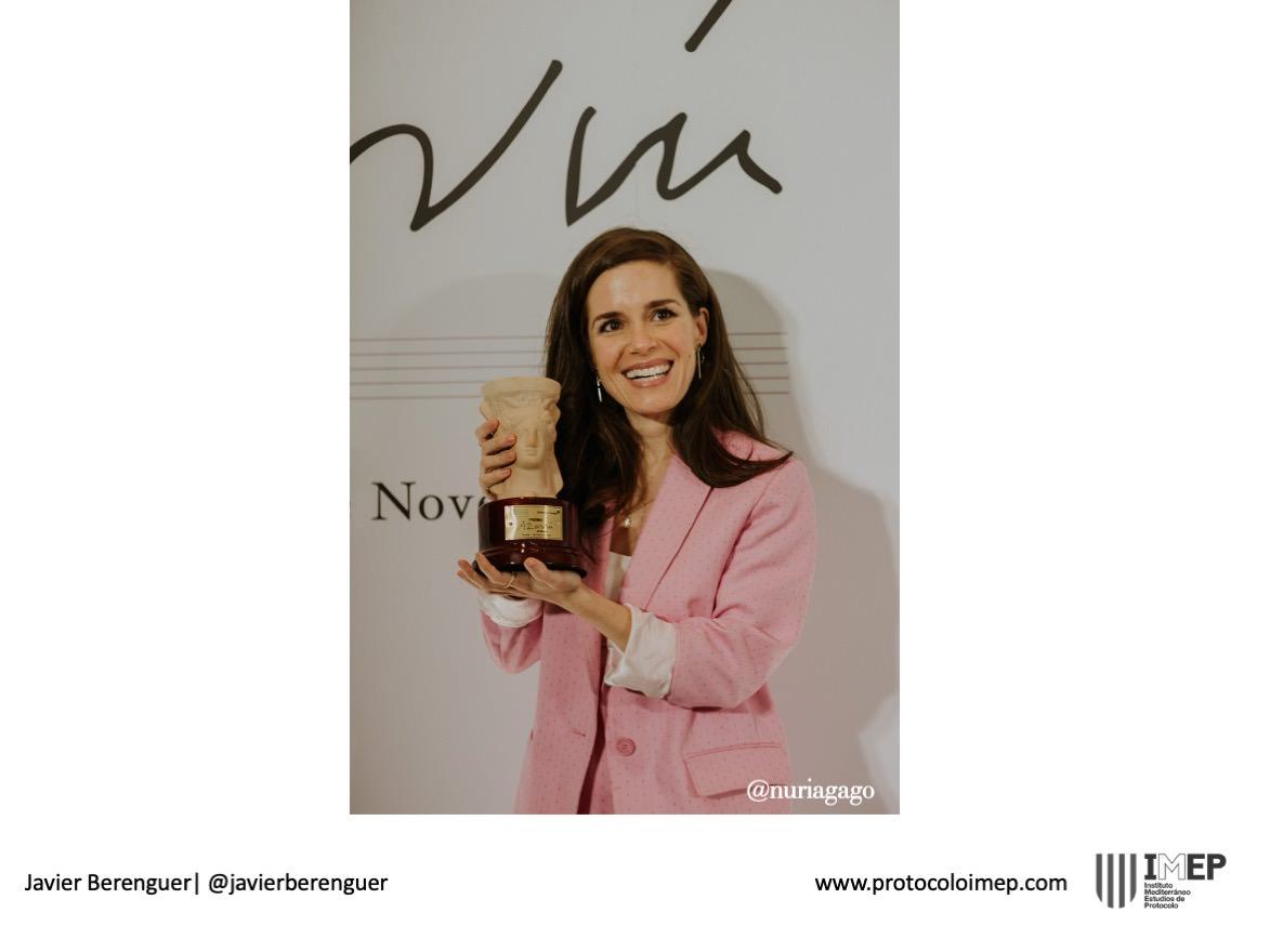 Fotos de Prensa Premios Azorín Nuria Gago