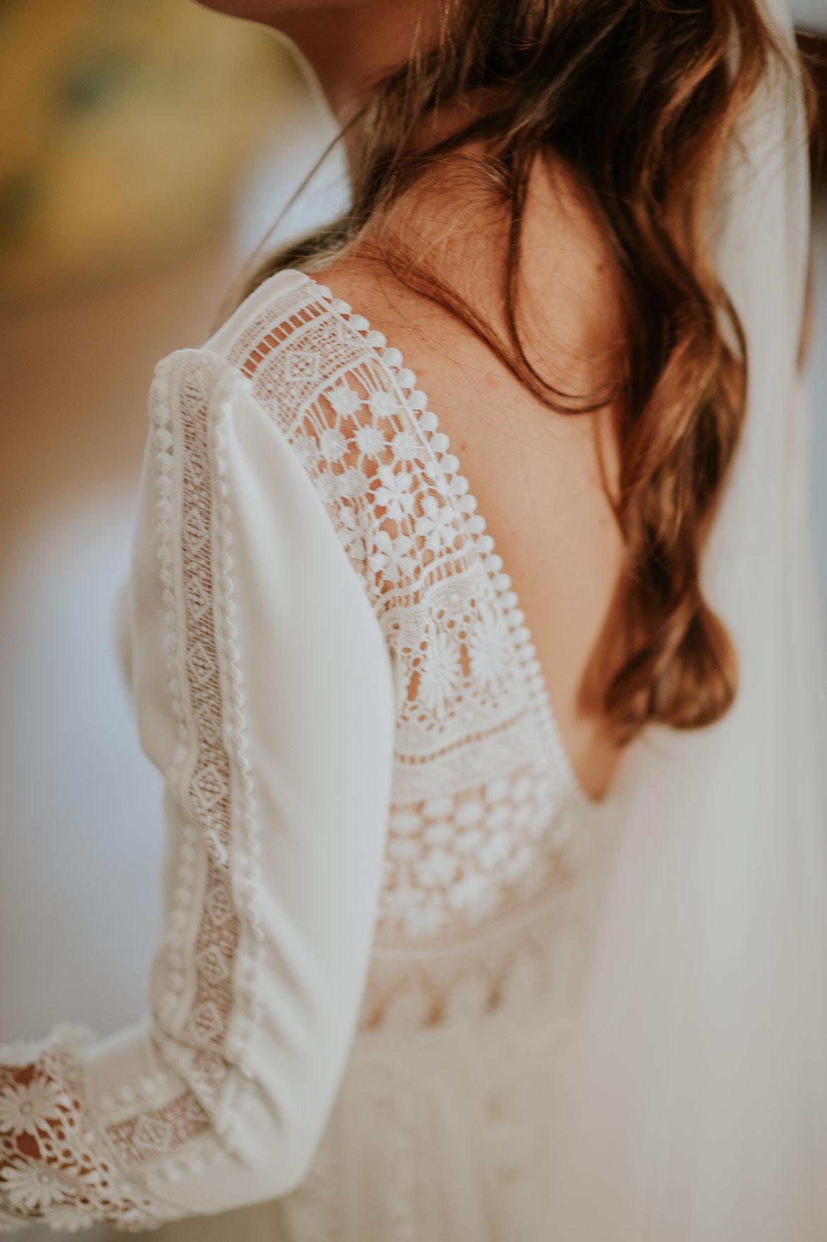 Espalda traje de novia Ruben Hernandez alta costura